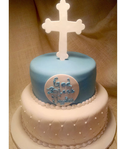 Blue Tier with Cross