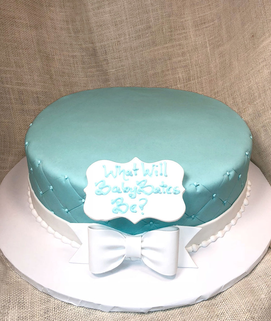 Blue Quilted Gender Reveal
