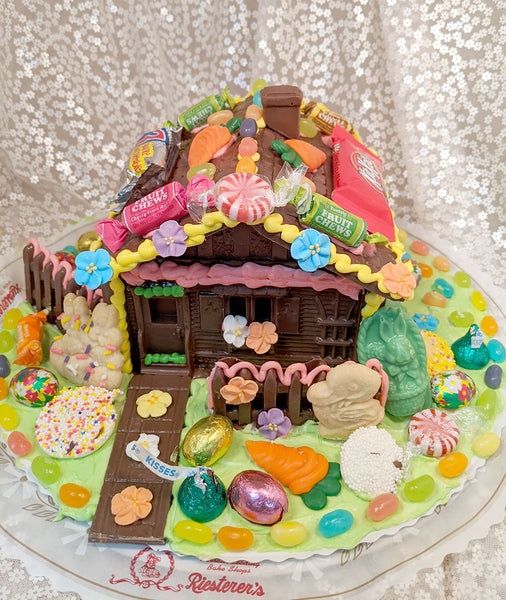 Chocolate Bunny Hutch Decorating Kit with Candy