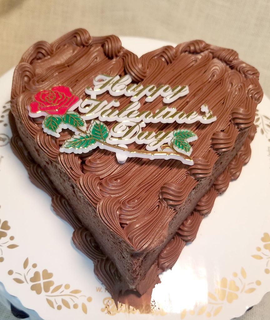 Brownie Heart Shape Cake