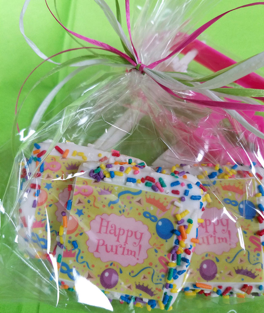Mini Happy Purim Cookie Treat Bag