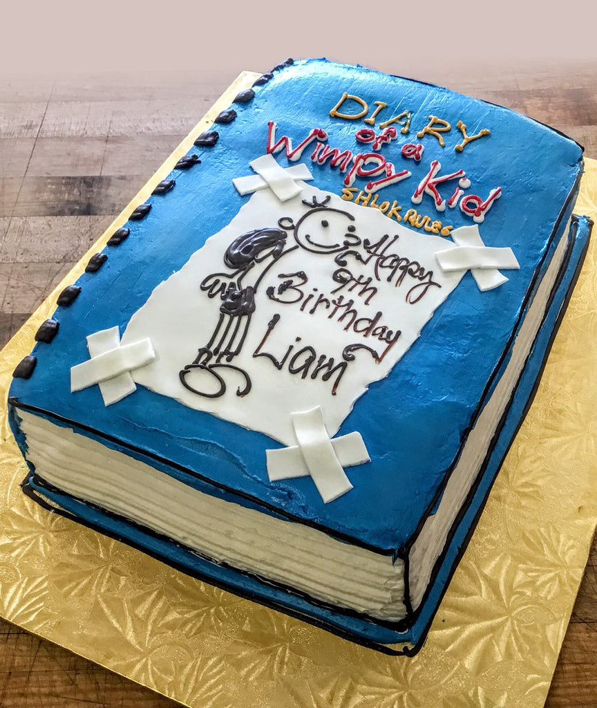Diary of a Wimpy Kid Book Cake