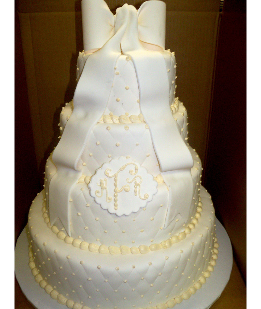 Distinguished Bow Tiered Cake