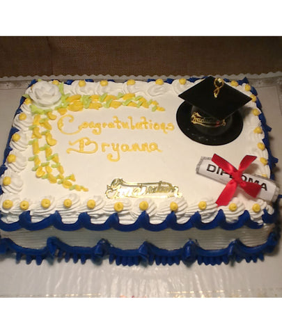 Basic Graduation Decor Cake