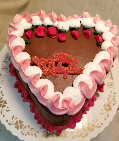 Fudge Heart Shape Cake