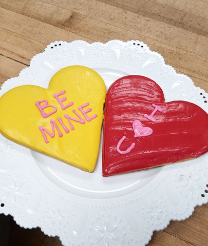 Large Conversation Heart Cookie