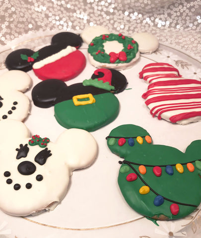Mickey & Minnie Christmas Cookies