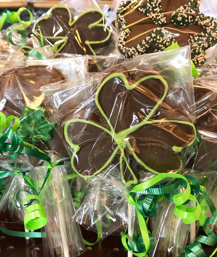 Milk Chocolate Shamrock Pops