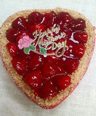 Mother's Day Strawberry Cheesecake Heart