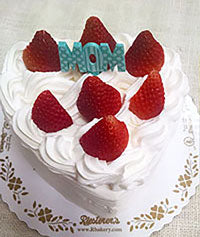 Mother's Day Strawberry Shortcake Heart