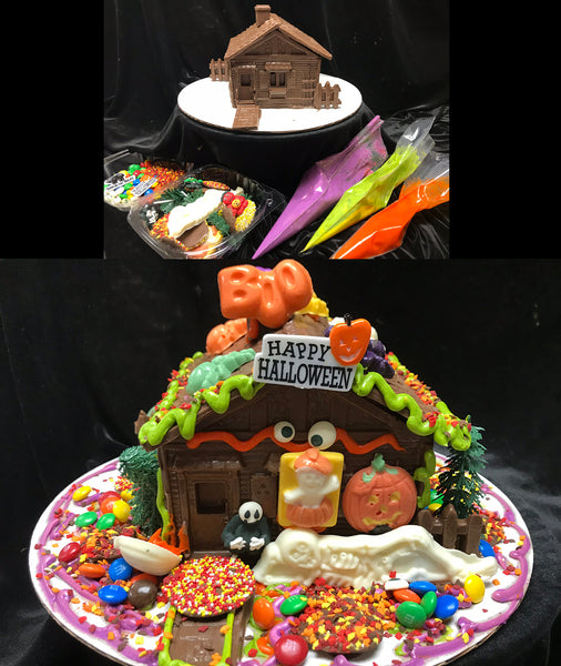 Chocolate Halloween House Decorating Kit