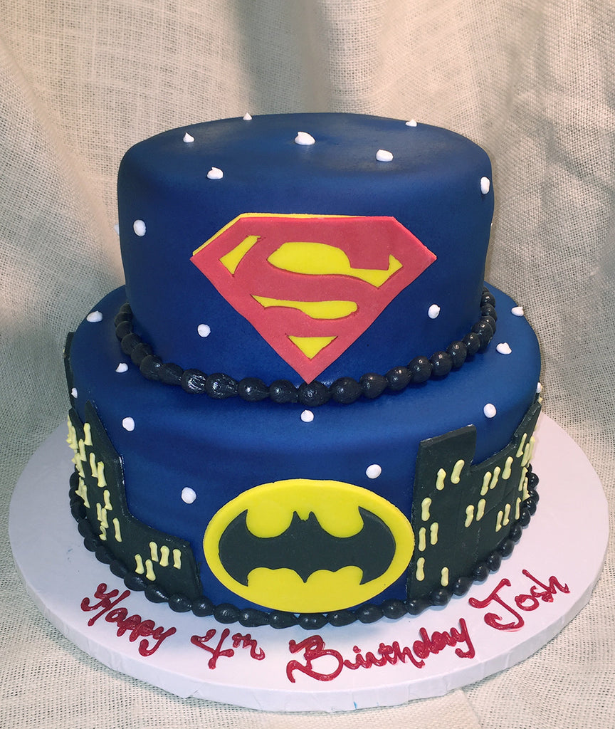 City Sky Superhero Cake