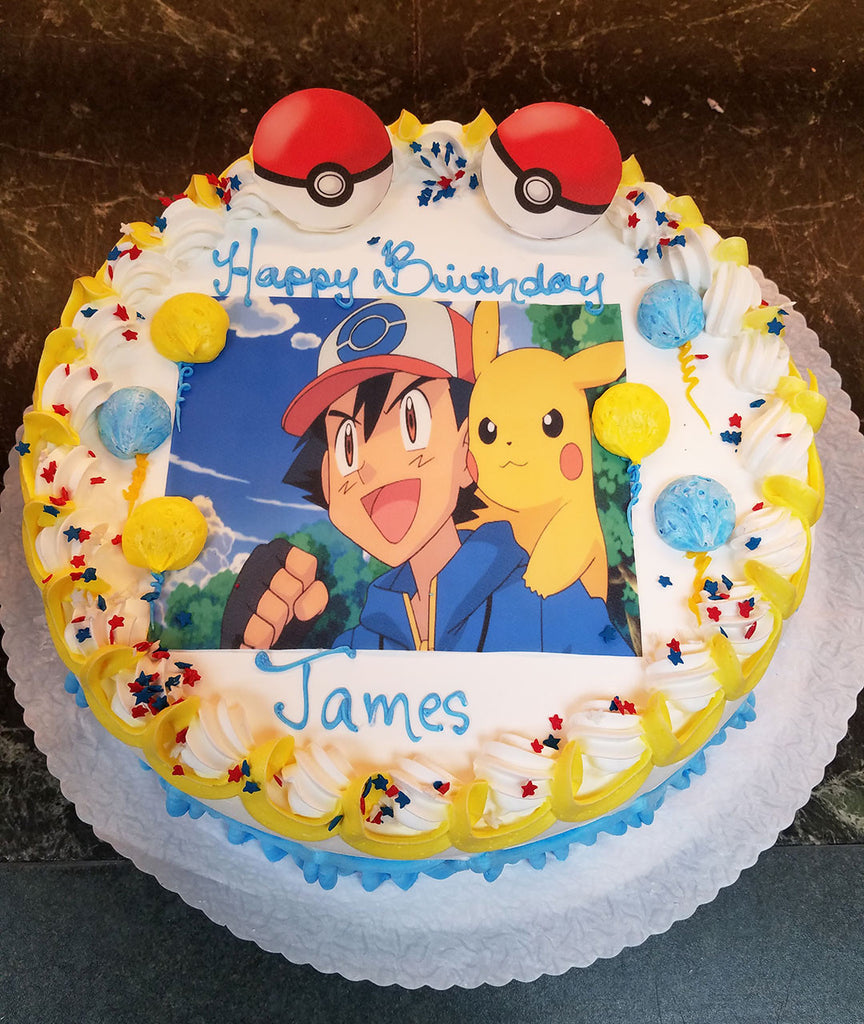 Ash Pokemon Cake