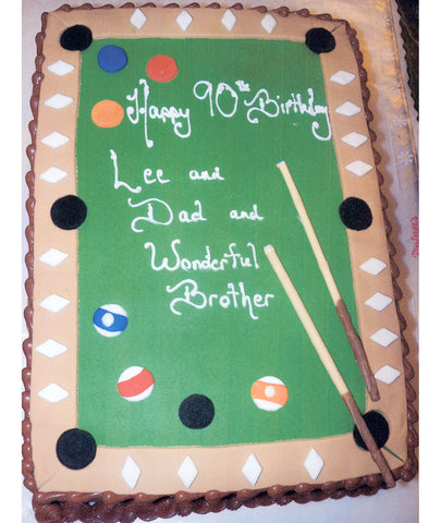 Amazing Birthday Cakes Tagged Pool Table Riesterers Bakery Personalised Birthday Cards Akebfashionlily Jamesorg