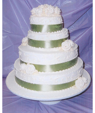 Tiered Fabric Ribbon Cake