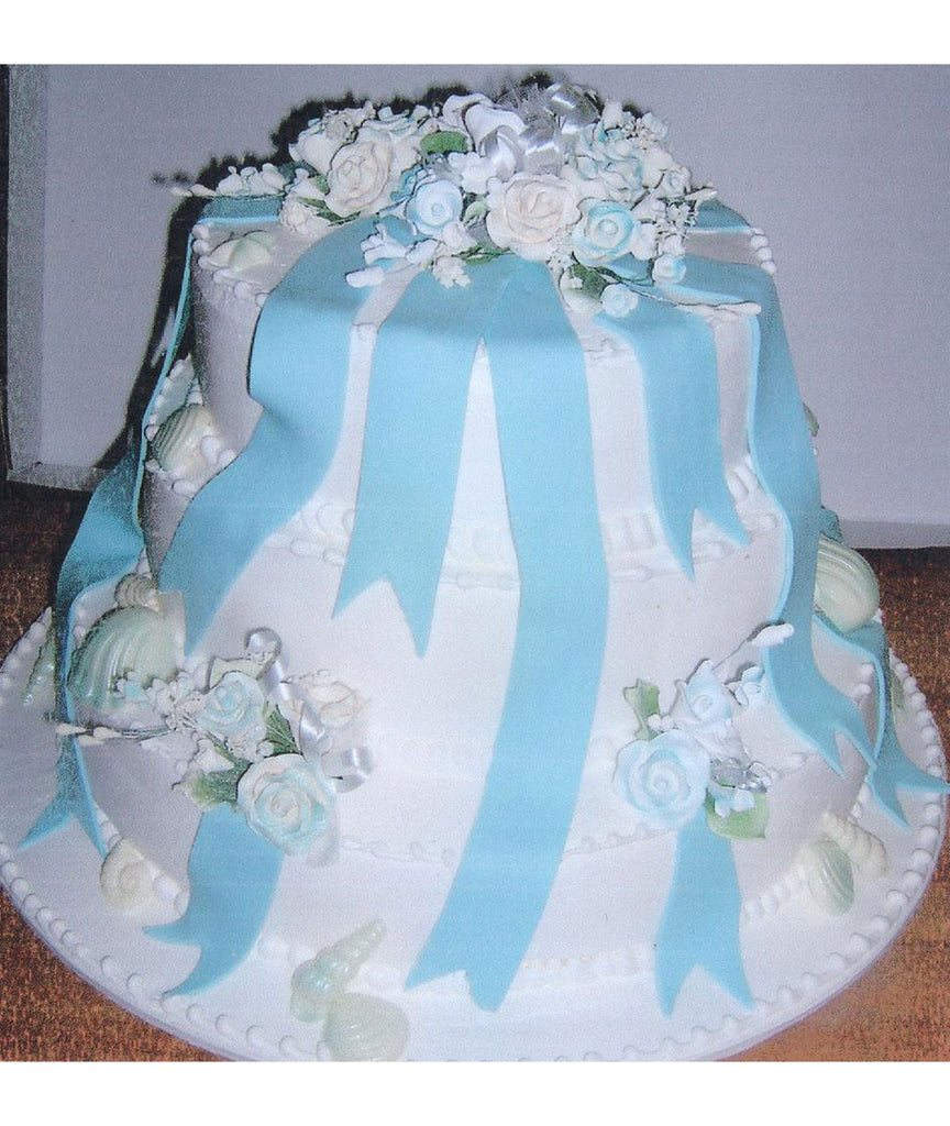 Flowers, Seashells & Ribbons Tiered Cake