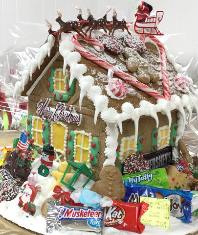 Decorated Gingerbread Houses
