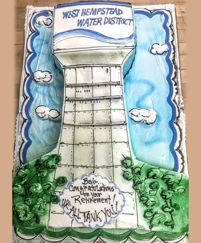 Water Tower Cake