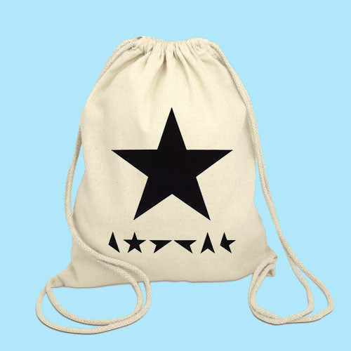 David Bowie star Drawstring Bag