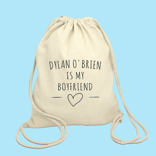 Dylan O'brien is my boyfriend Drawstring Bag