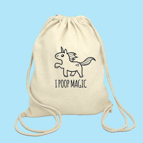 I poop Magic Drawstring Bag