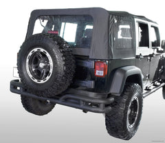 Double Tube Rear Bumper, 3 Inch; 07-16 Jeep Wrangler JK-Get4x4Parts.com