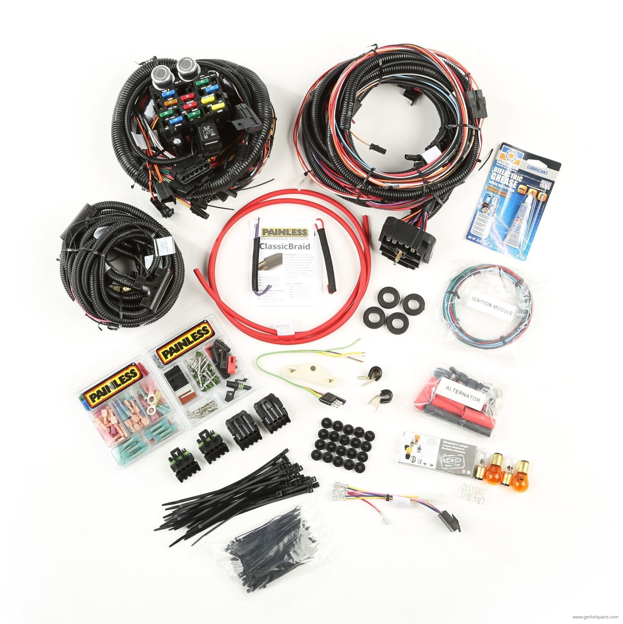 Painless Wiring Harness Jeep 4 0 Kit 10113 Fuse Box Shop For Electrical At Get4x4parts Com 00 04 Wj 01 06 Diagram