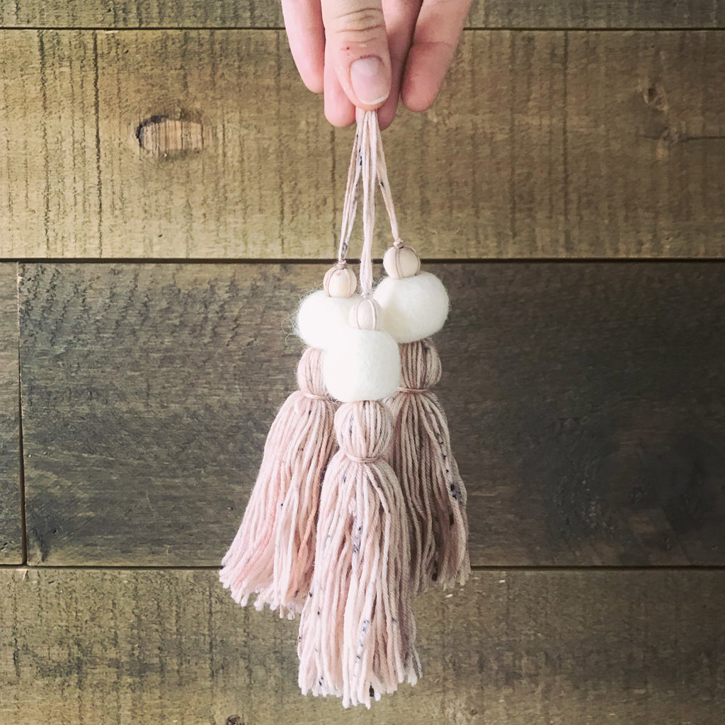 Hygge natural wool tassel ornaments