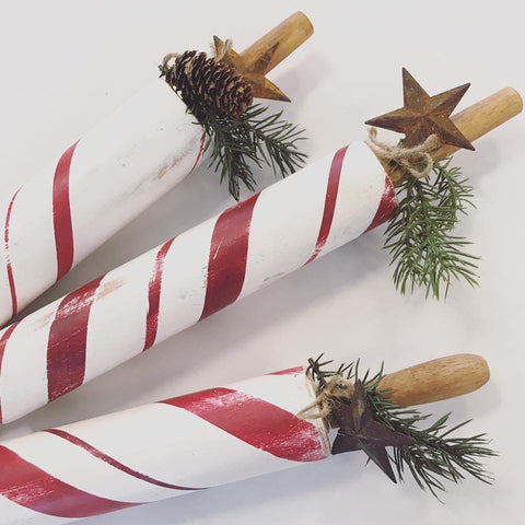 Peppermint Decorative Rolling Pin