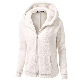 Plus size women Hooded Coat Outwear Warm Wool with Zipper   #3