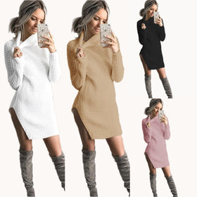 Autumn Winter Dress 2017 Vestidos High Neck Sexy Strap Casual Dress Femal Party Dresses For Women Boho Robe Vestido De Festa