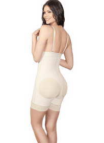 Shapewear Open-Bust Bodysuit Firm Control Weist, Sheer Booty-Full Faja Colombiana A02