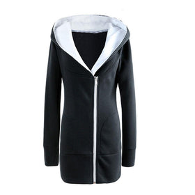 Winter Jacket tops long sleeve Hooded Sweatshirt Casual Coat Tops Pullover
