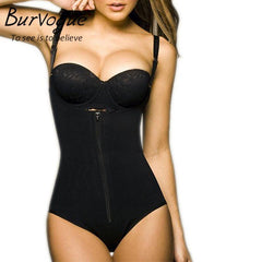 BurVogue Official Store Bodysuits Clips or Zip Full Body Shaper Waist Trainer Slimming Shapewear Lifter Tummy Control Underwear