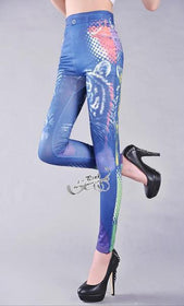 DHgate-209605096 Leggings leggings drawing pattern printing dot The tiger head seamless pants high elastic imitation jeans