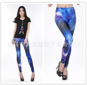 DHgate-229935919 Leggings Fancy Galaxy Space Print legging Pants jeans look denim Leggings