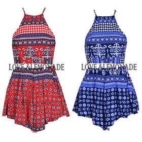 DHgate-236047601 Casual Dresses Short Party Fashion Twinset Plus Size Dress Backless Mini Print
