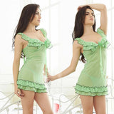 DHgate-237654976 Sexy Costumes Lingerie Adult Sex Costumes Gauze See-through Backless Babydolls