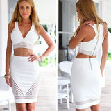 DHgate-244746684 Party Dresses Deep V Short Party Dresses Plus Size Package Hip White Prom Cocktail