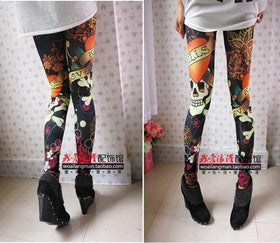DHgate-245070871 Leggings Vintage skull clothes stretchy skeleton printed tattoo Skinny Jeans Leggings