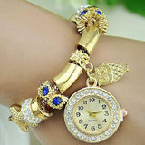 DHgate-251795722 Wristwatches Fashion casual watch Inlaid crystal  Watch Quartz watches 6 colors