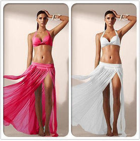 DHgate-256801685 Swimwear Long Slit Bikini Swimwear SwimSuits Cover Up Dress