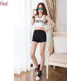 DHgate-256907968 Shorts High Waist Jeans Shorts Female Slim   White Black Blue Shorts Jeans