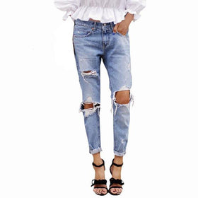 DHgate-258710825 Jeans S5Q  Vintage Cotton Jeans Low Waist Ripped Washed Hole Denim Pencil Pants AAAEPE