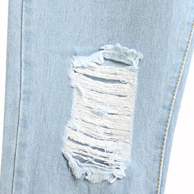 DHgate-258711240 Jeans Vintage Casual Loose Ripped Version Holes Harlan Bleached Cotton Jeans