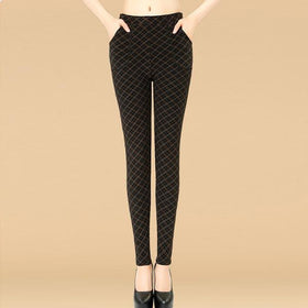 DHgate-264908711 Leggings ONE SIZE / 1 Plus Size Autumn Middle-aged  Trousers Casual Leggings Cotton Slim Pencil Pants Leggings
