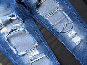 DHgate-270809985 Jeans Hole Pants  Straight Ladies Jeans Pants Ripped Hole Wild Retro Jeans
