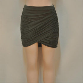 la-fashion-district-llc Army green / L Elastic Women Skirt Slim Pencil Skirts Clubwear Suitable Casual Solid Color Clothing