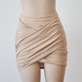 la-fashion-district-llc Beige / L Elastic Women Skirt Slim Pencil Skirts Clubwear Suitable Casual Solid Color Clothing