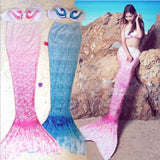 LA Fashion District LLC blue pink ariel  and top bikini bathing suit Swimmable mermaid tail costume for swimming adult